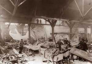 Construction of the Statue of Liberty in 1884